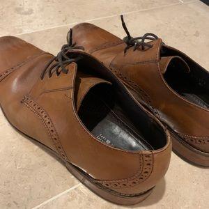 Florsheim soft leather brown dress shoes Sz 10